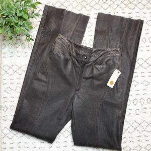 Western Remy Lambskin Distressed Leather Pants 6